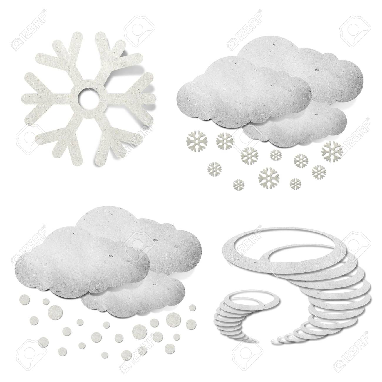 Weather grunge recycled paper craft stick on white background Stock Photo - 9648350