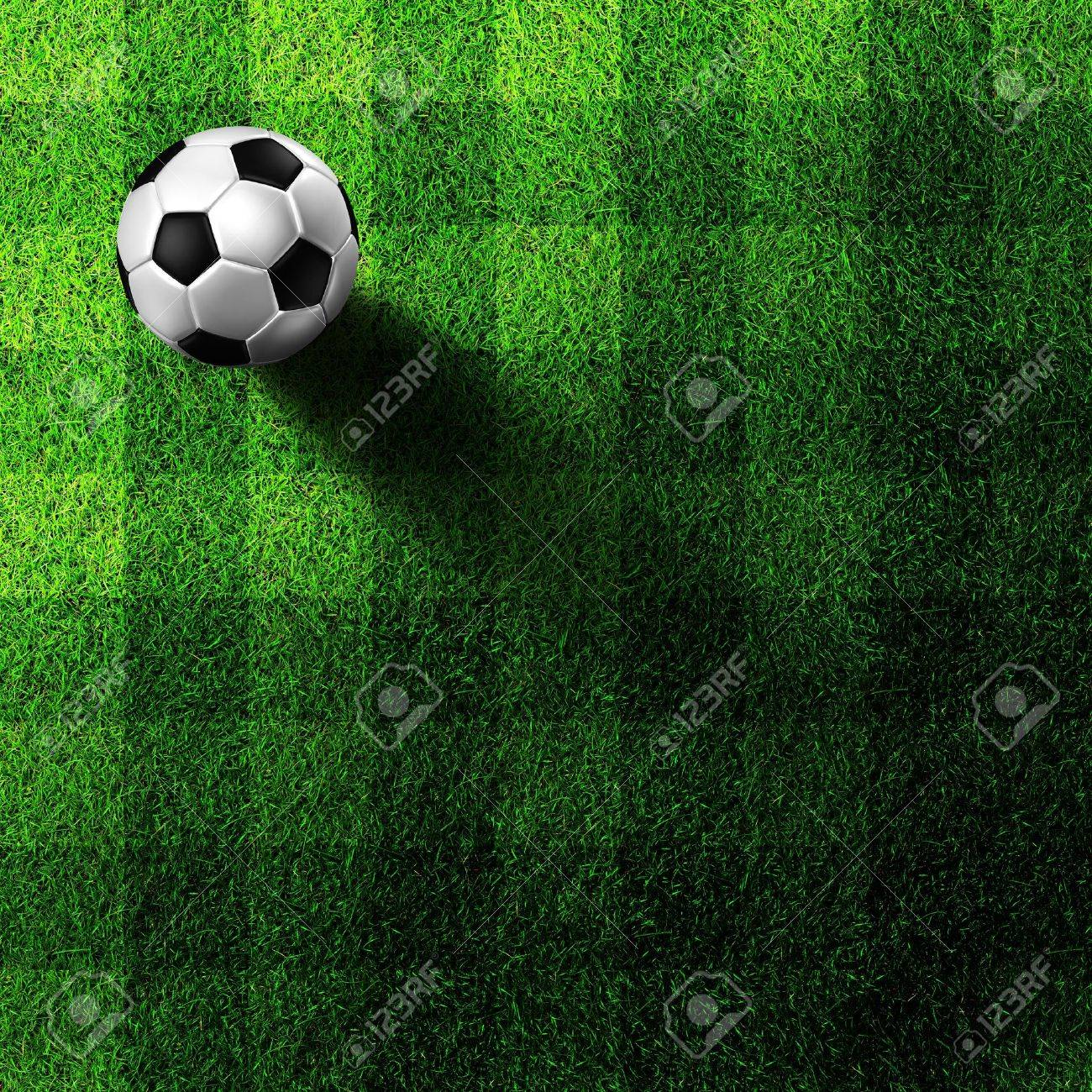 soccer football on grass field Stock Photo - 9647939