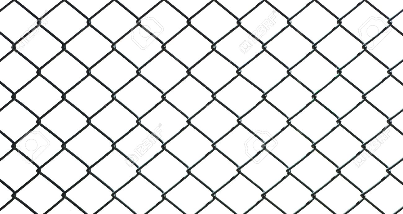 Iron Wire Fence Isolated On White Background Stock Photo, Picture ...