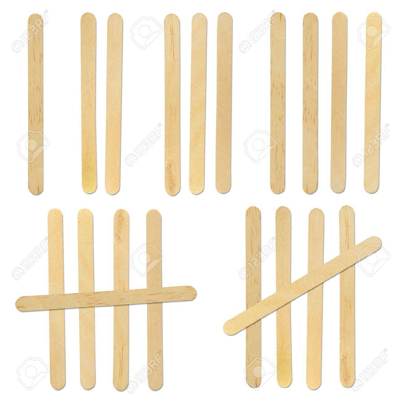 wood ice-cream stick isolated on white background Stock Photo - 10196719