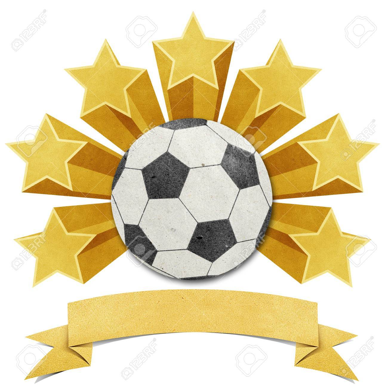 football star recycled papercraft background Stock Photo - 11646653
