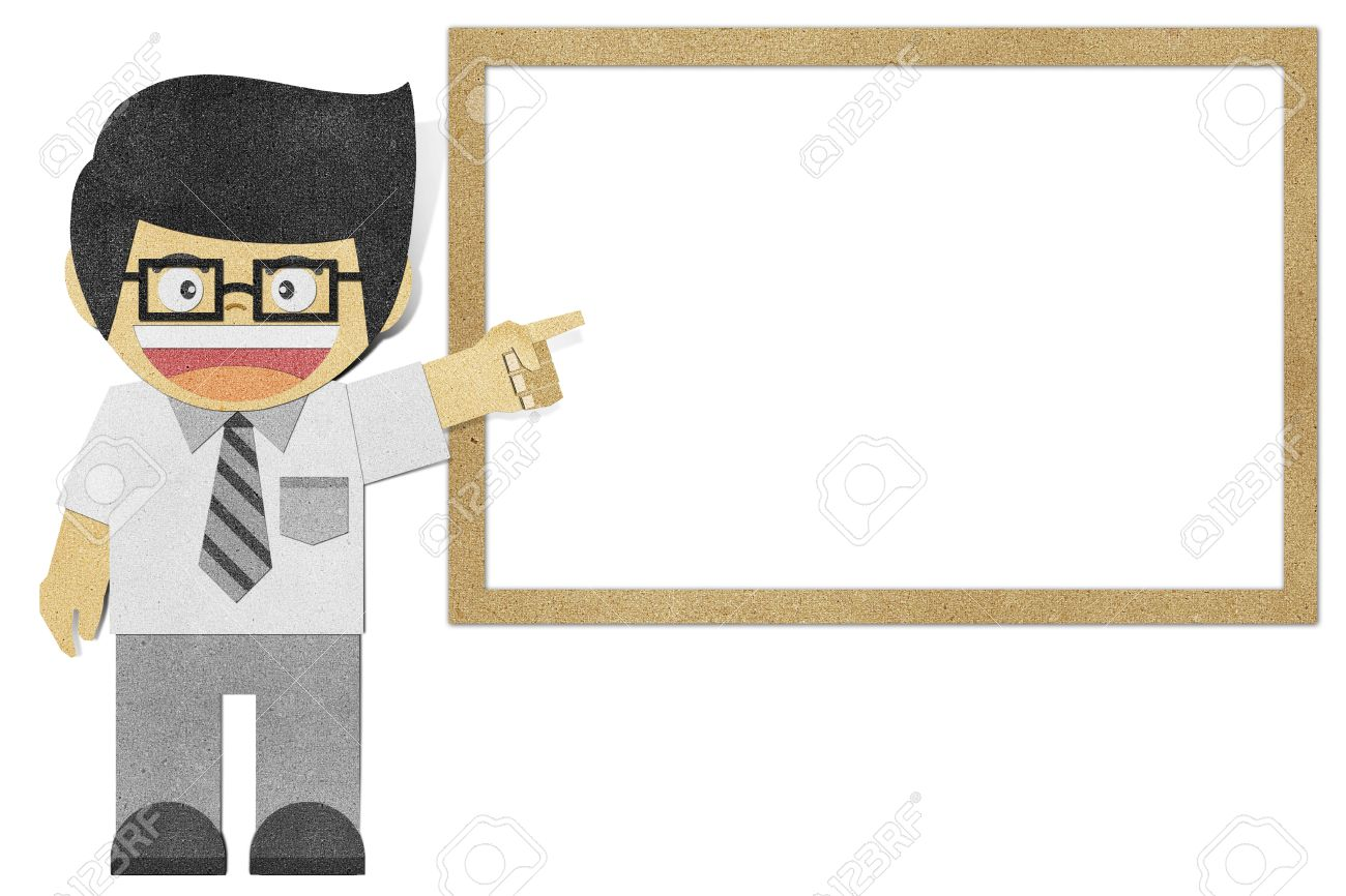 Paper Boy ( Business Man ) Recycled Papercraft Stock Photo ...