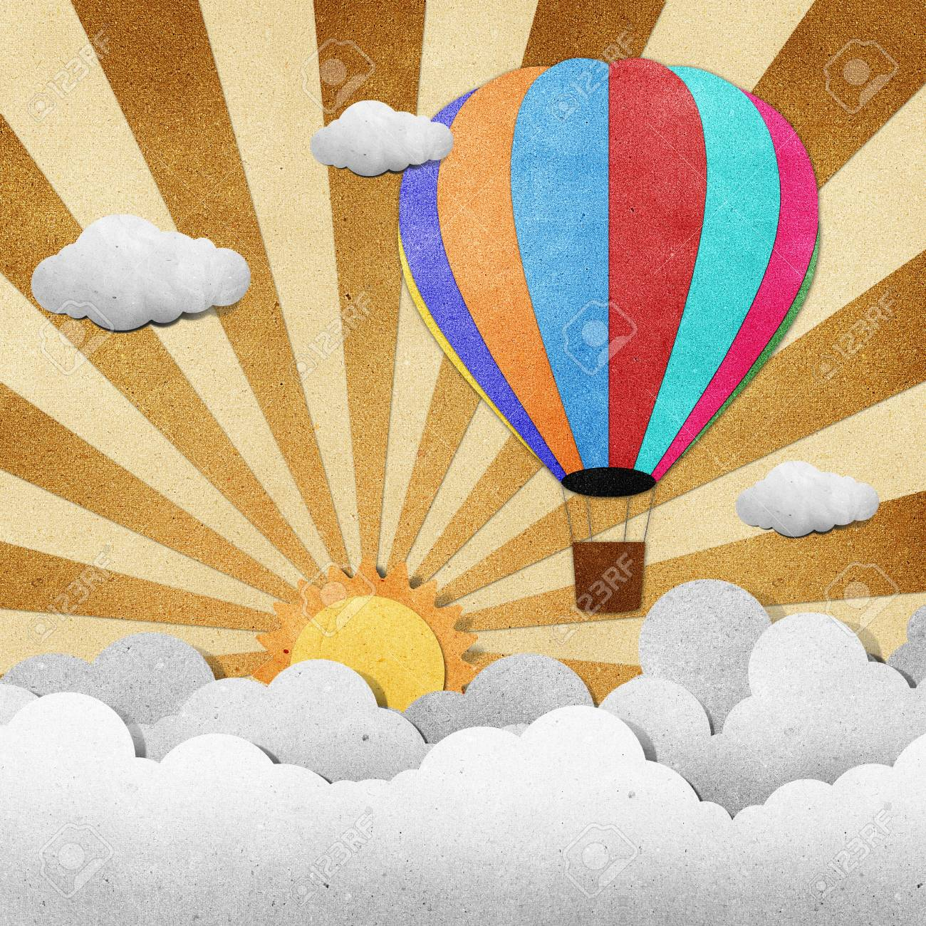 Balloon made from recycled paper background Stock Photo - 14670890