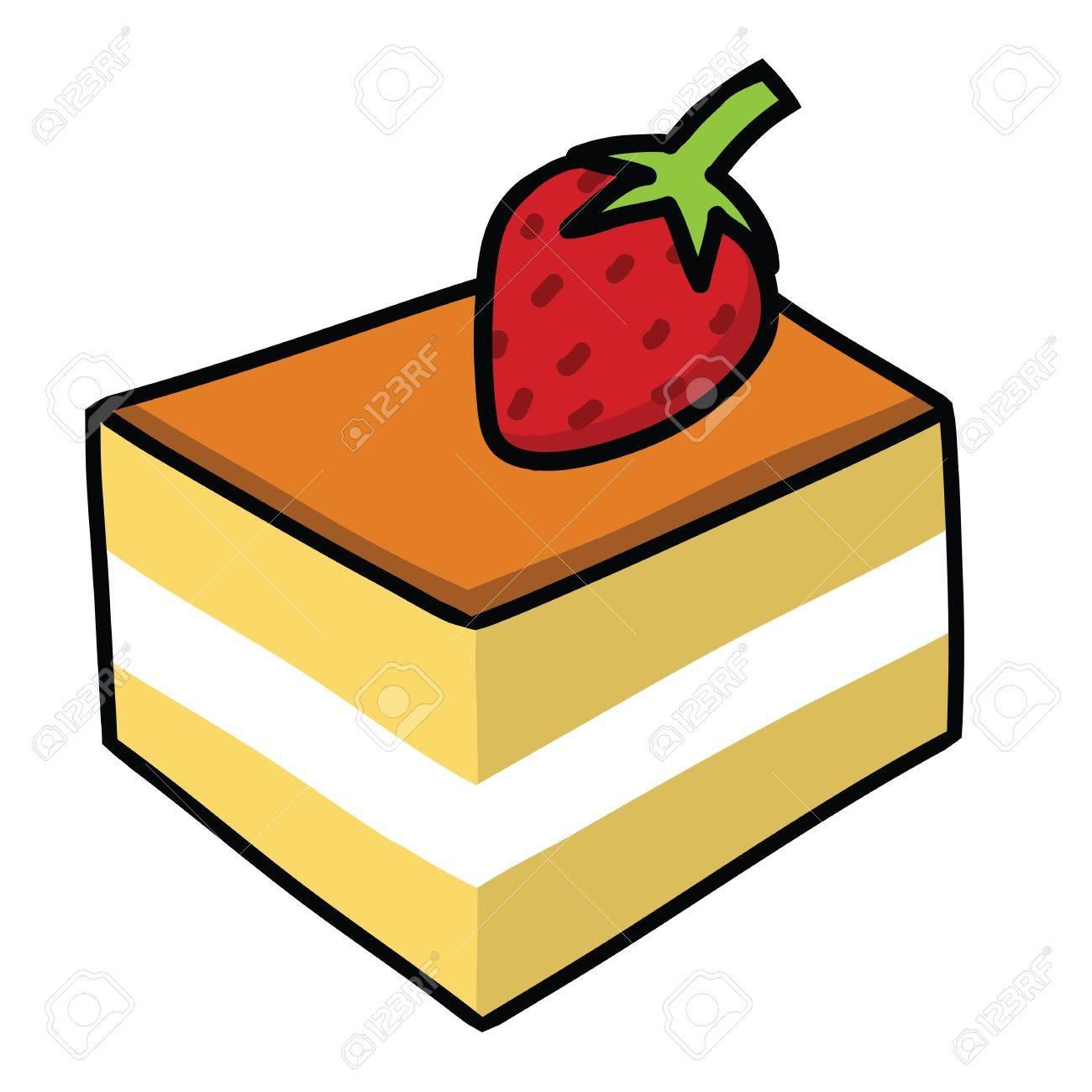 Cartoon cake Stock Vector - 15356751