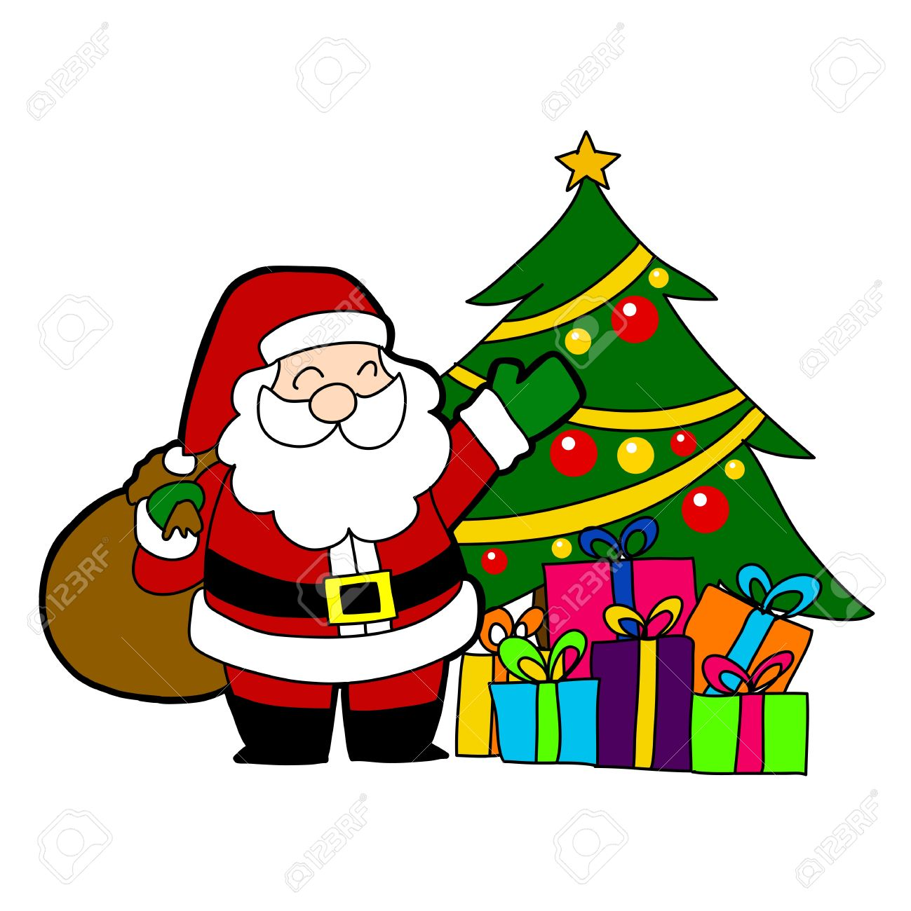 cartoon santa claus - Santa Santa Claus