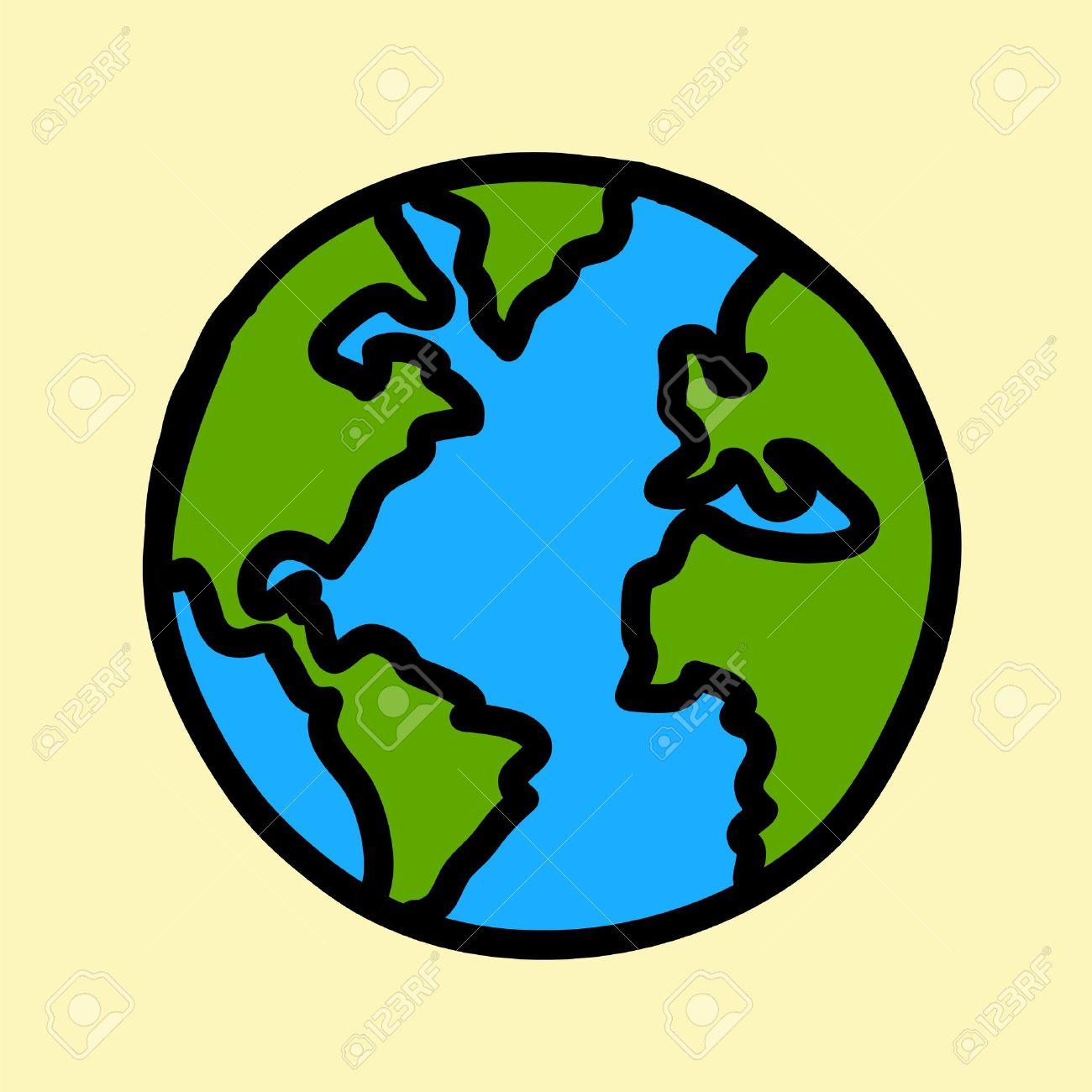 El Planeta Tierra Escritura De La Mano De Dibujos Animados Crédito Nasa