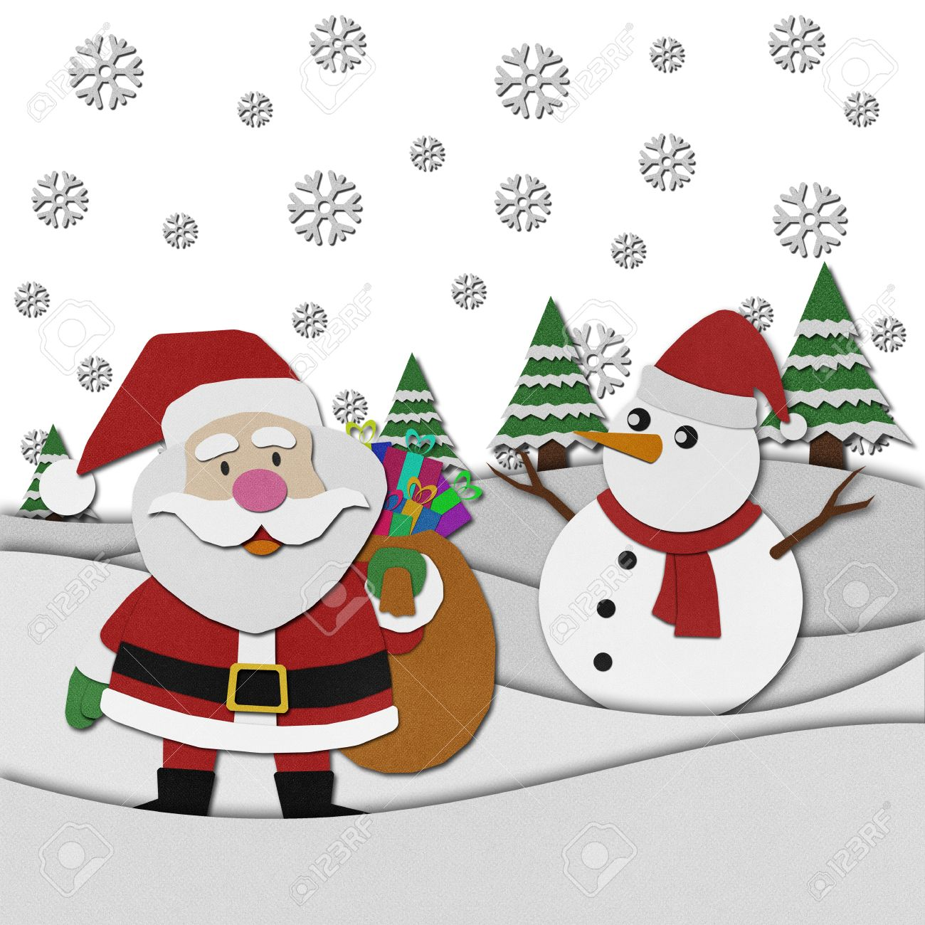 Uncategorized Santa Claus Paper santa claus recycled papercraft on paper background stock photo 15809963
