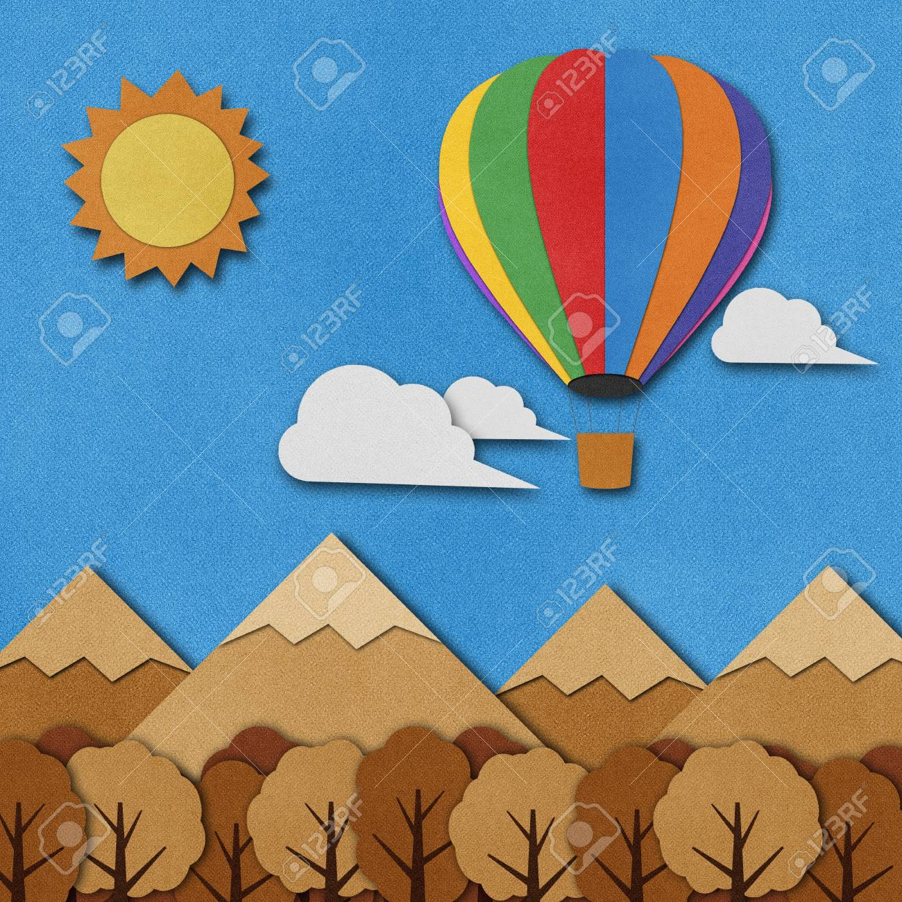 Balloon made from recycled paper background. Stock Photo - 15862273