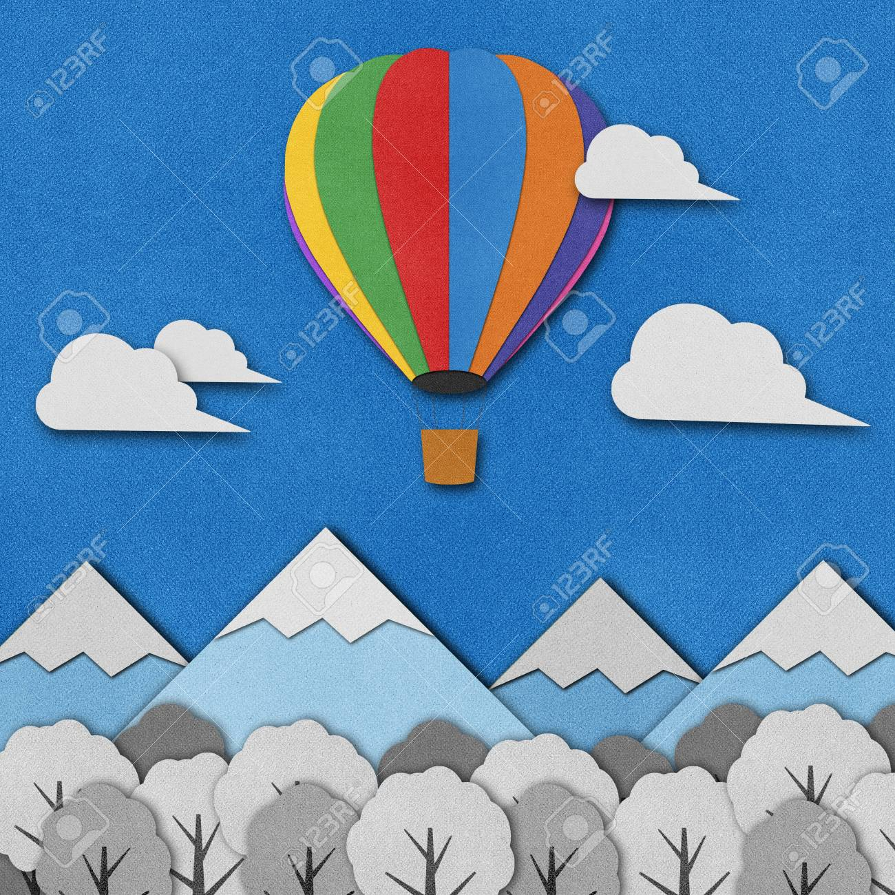 Balloon made from recycled paper background. Stock Photo - 15862237