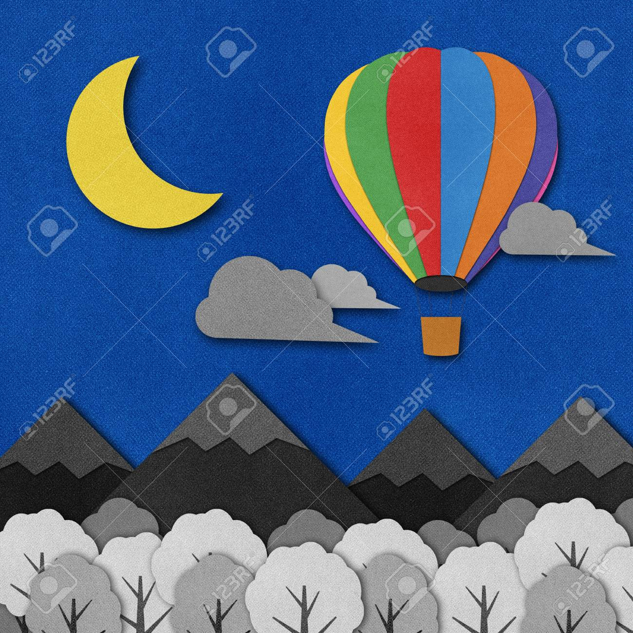 Balloon made from recycled paper background. Stock Photo - 15862271