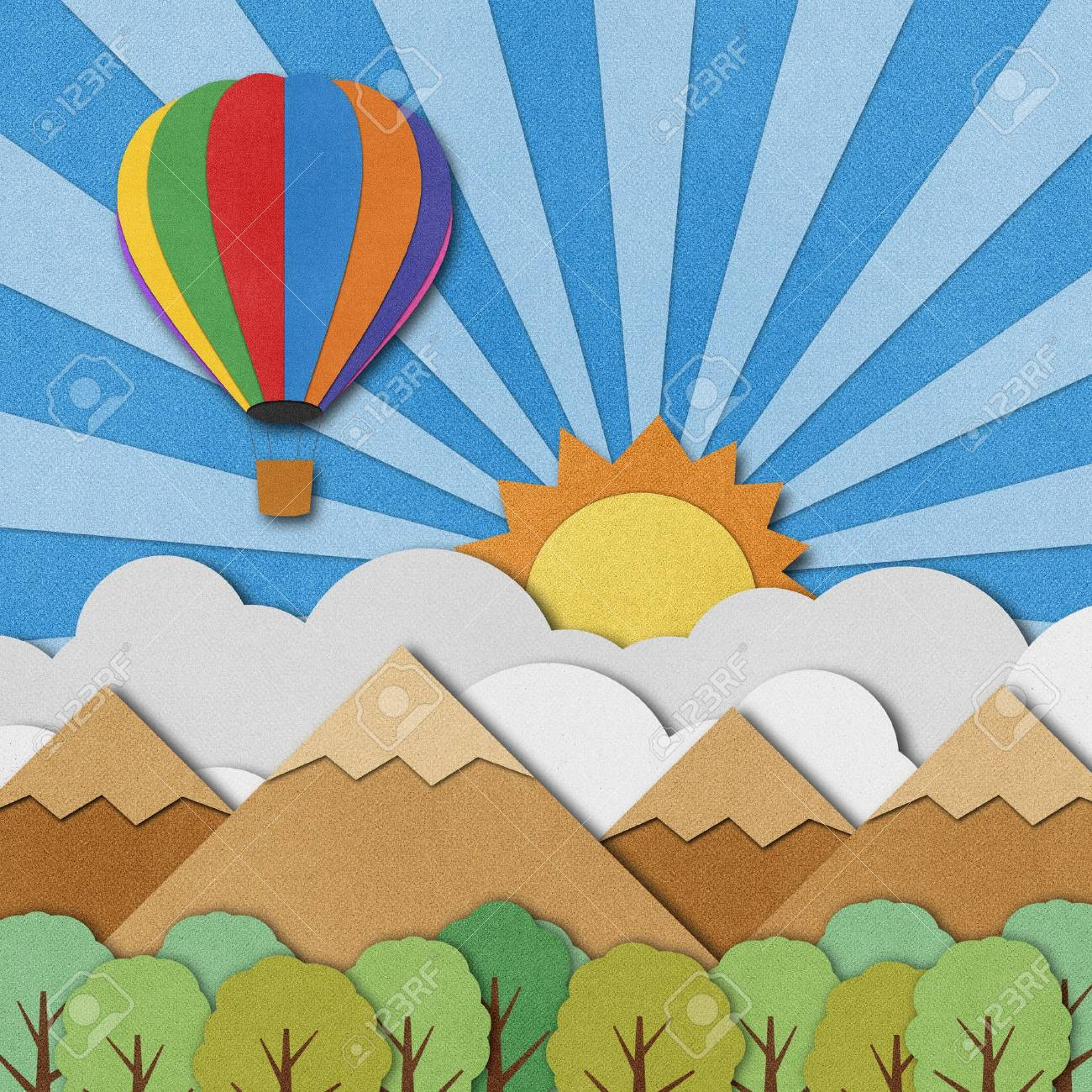 Balloon made from recycled paper background. Stock Photo - 15862235