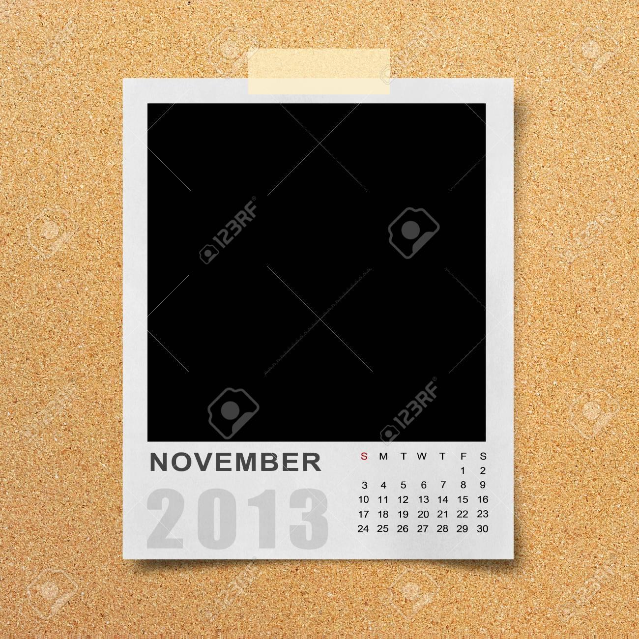 Calendar 2013 on blank photo background. Stock Photo - 16138706