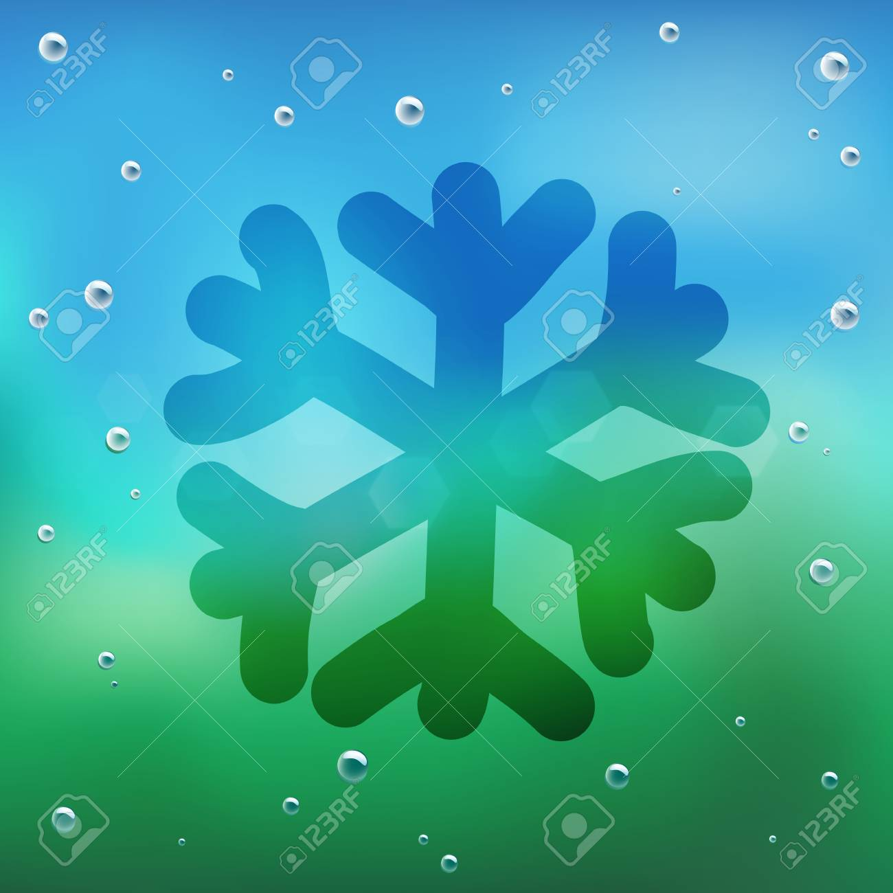Hand draw cartoon and water drop on glass. Stock Vector - 16987493