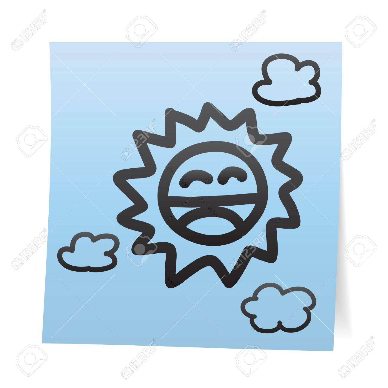 Hand draw cartoon on paper note stickers Stock Vector - 17030985