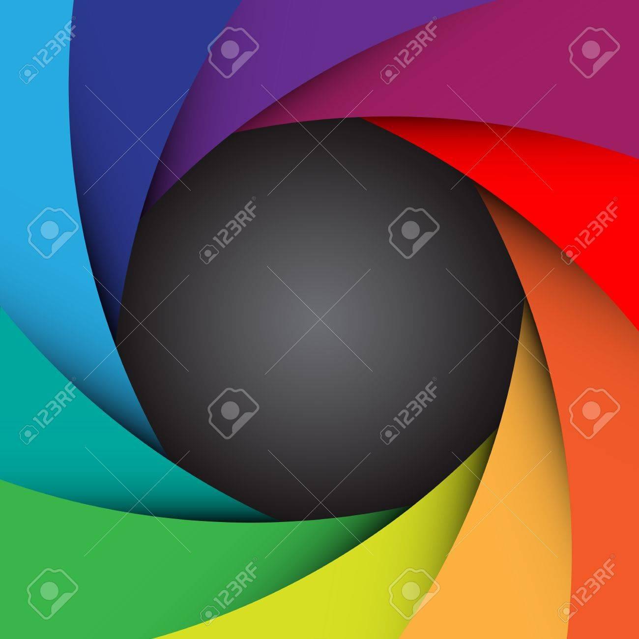 Colorful camera shutter background illustration Stock Vector - 17422019