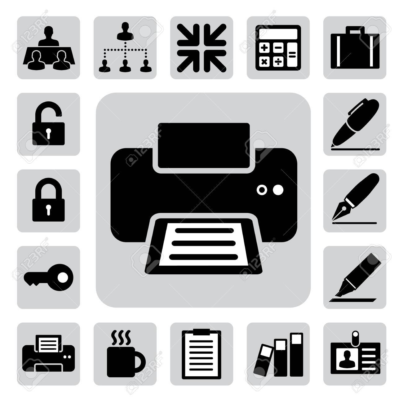 Business and office icons set. Stock Vector - 17659655