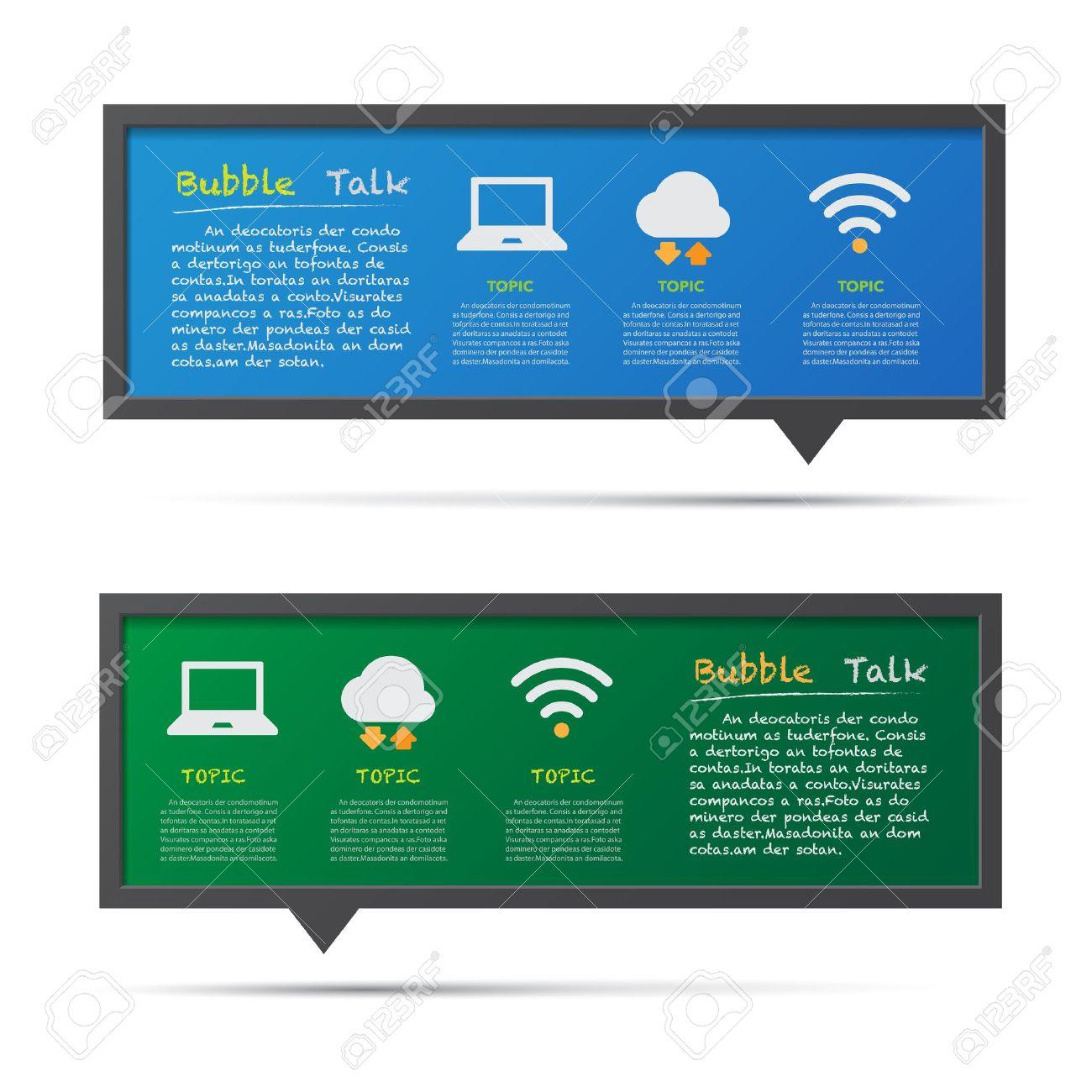 Network icon and 3D bubble talk blackboard. Illustrator Stock Vector - 20537963