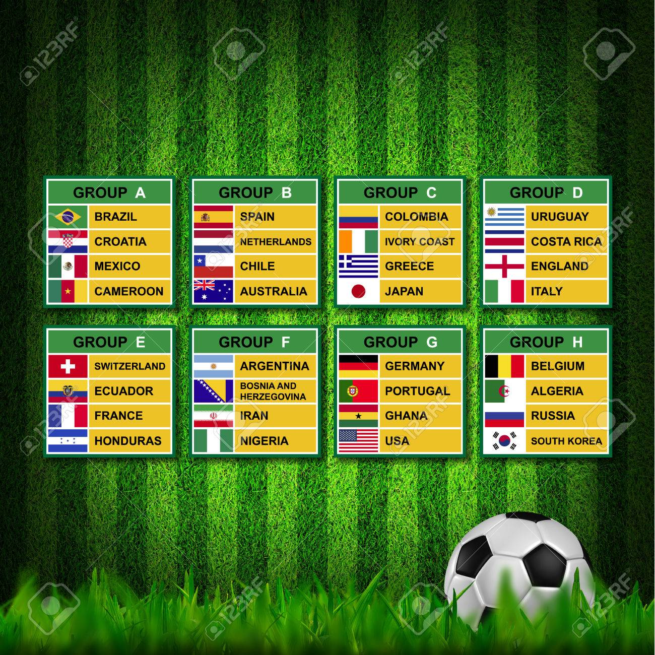 Brazil 2014 , Soccer ( Football ) Tournament. Stock Photo - 25238195
