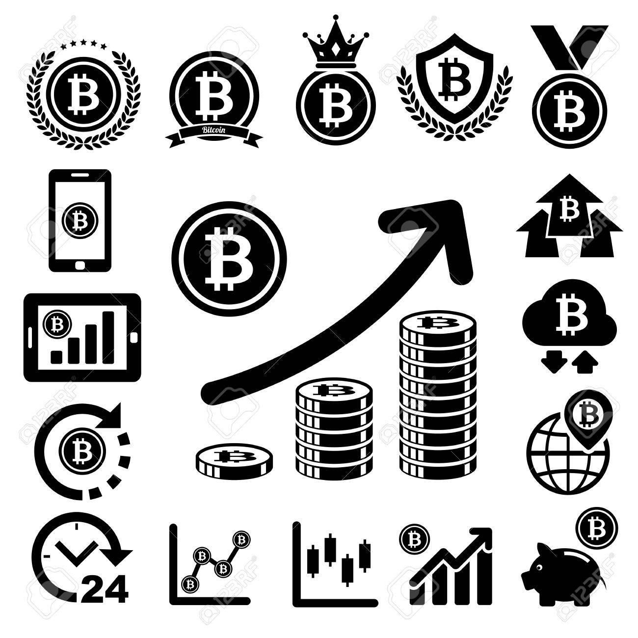 Bit coin icons set. - 26068788