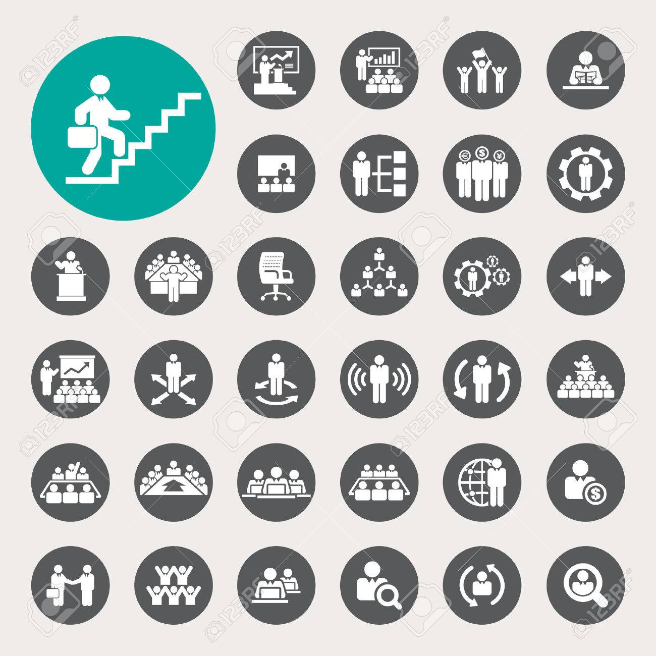 Business and Management Icons set - 26518681