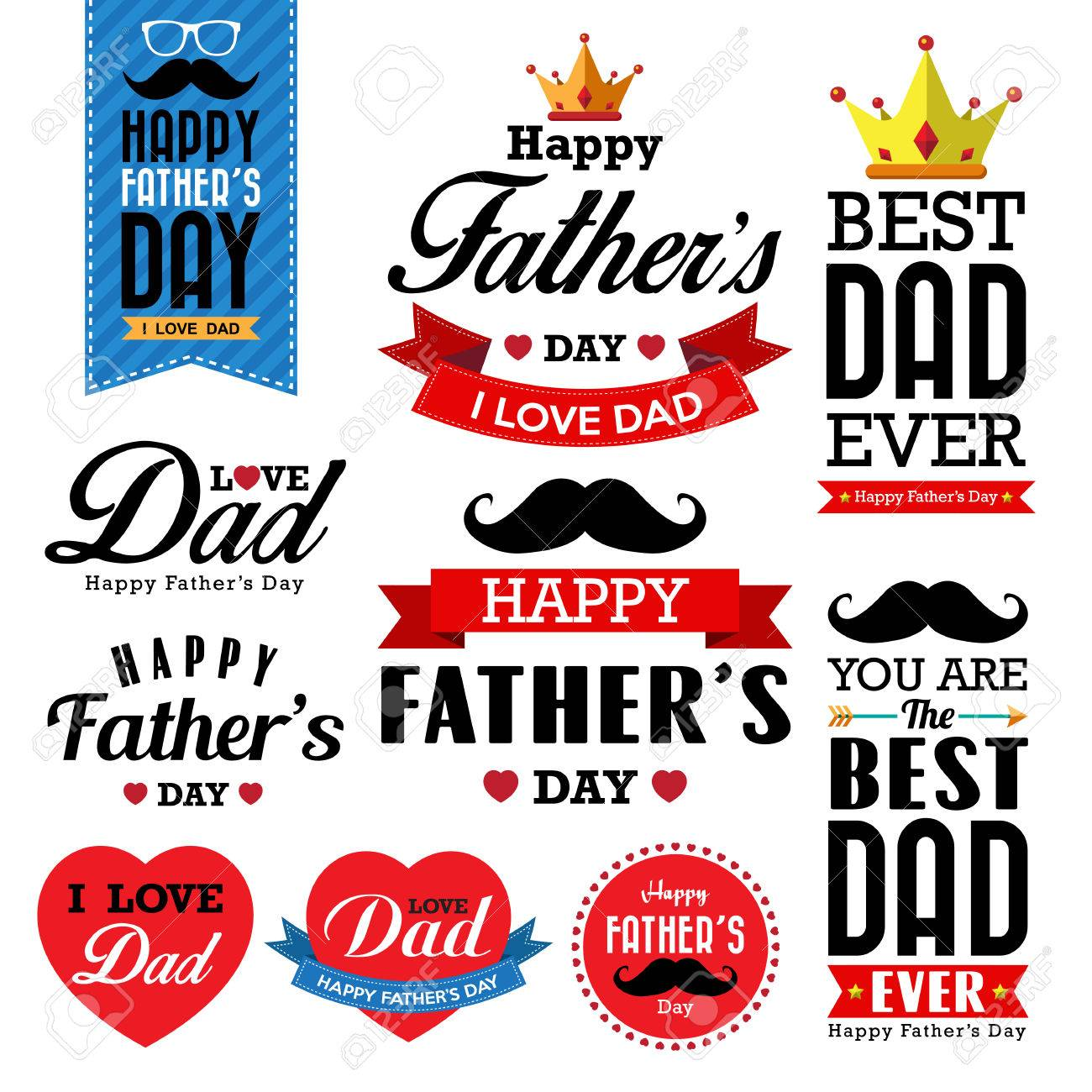 Happy fathers day vintage retro type font.Illustrator eps10 - 29127606