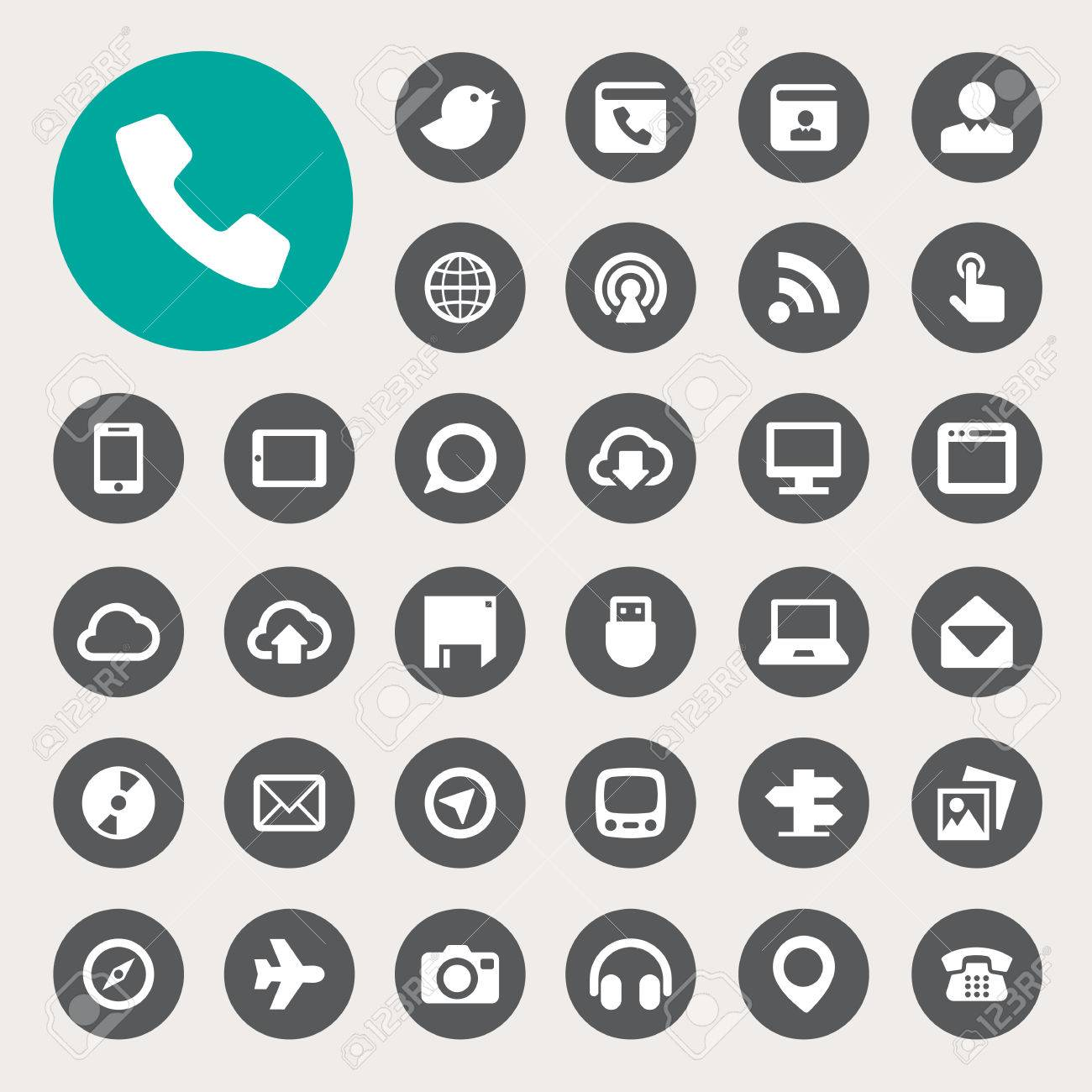 Communication and transportaion icon set .Illustration eps10 - 29100282