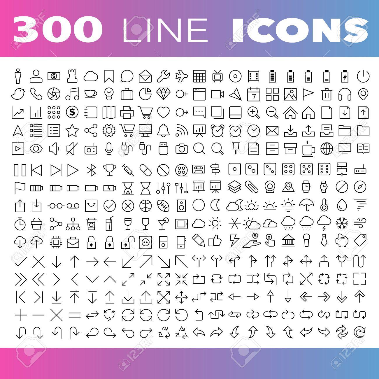 Thin Line Icons set.Illustration eps10 - 36630858