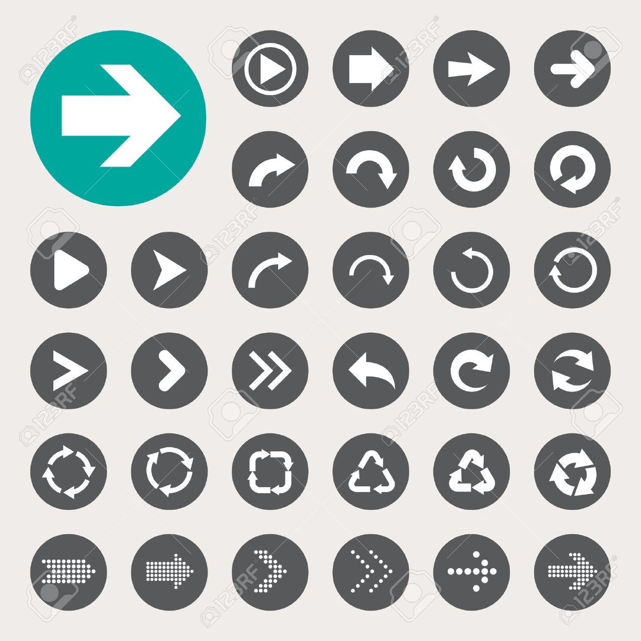 Basic arrow sign icons set.Illustrator eps10 - 39021918
