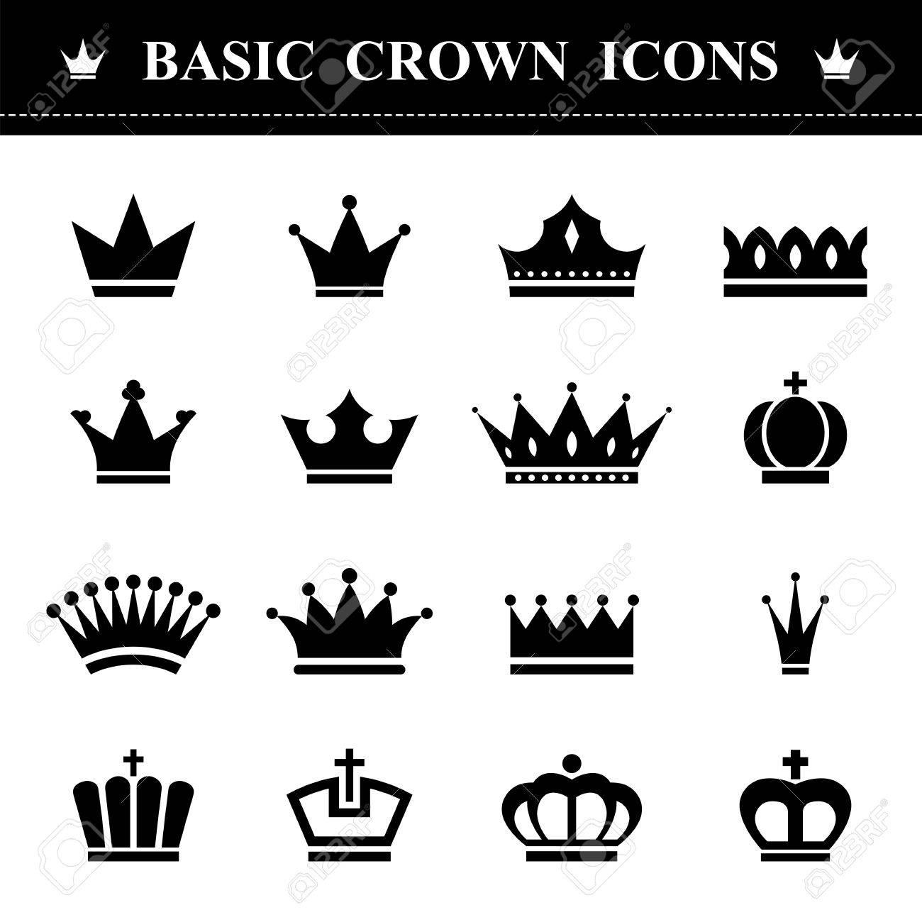 Basic Crown icons set . Illustration eps10 - 39021924