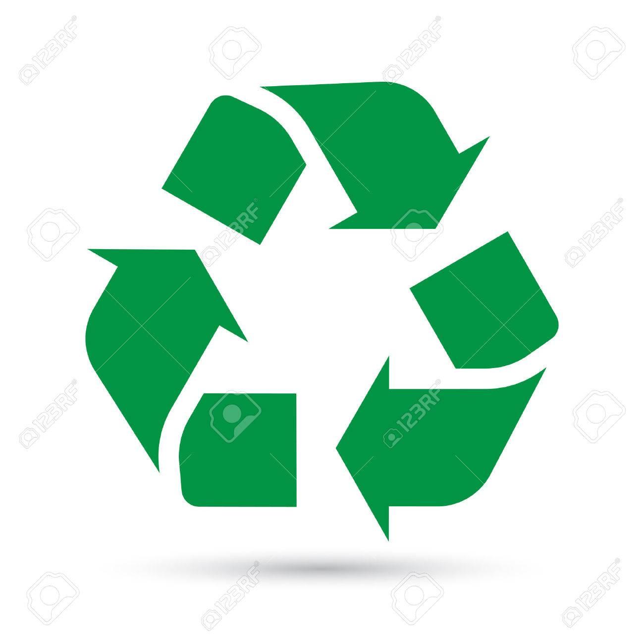 Recycle sign on white background.Illustration eps10 - 43209850