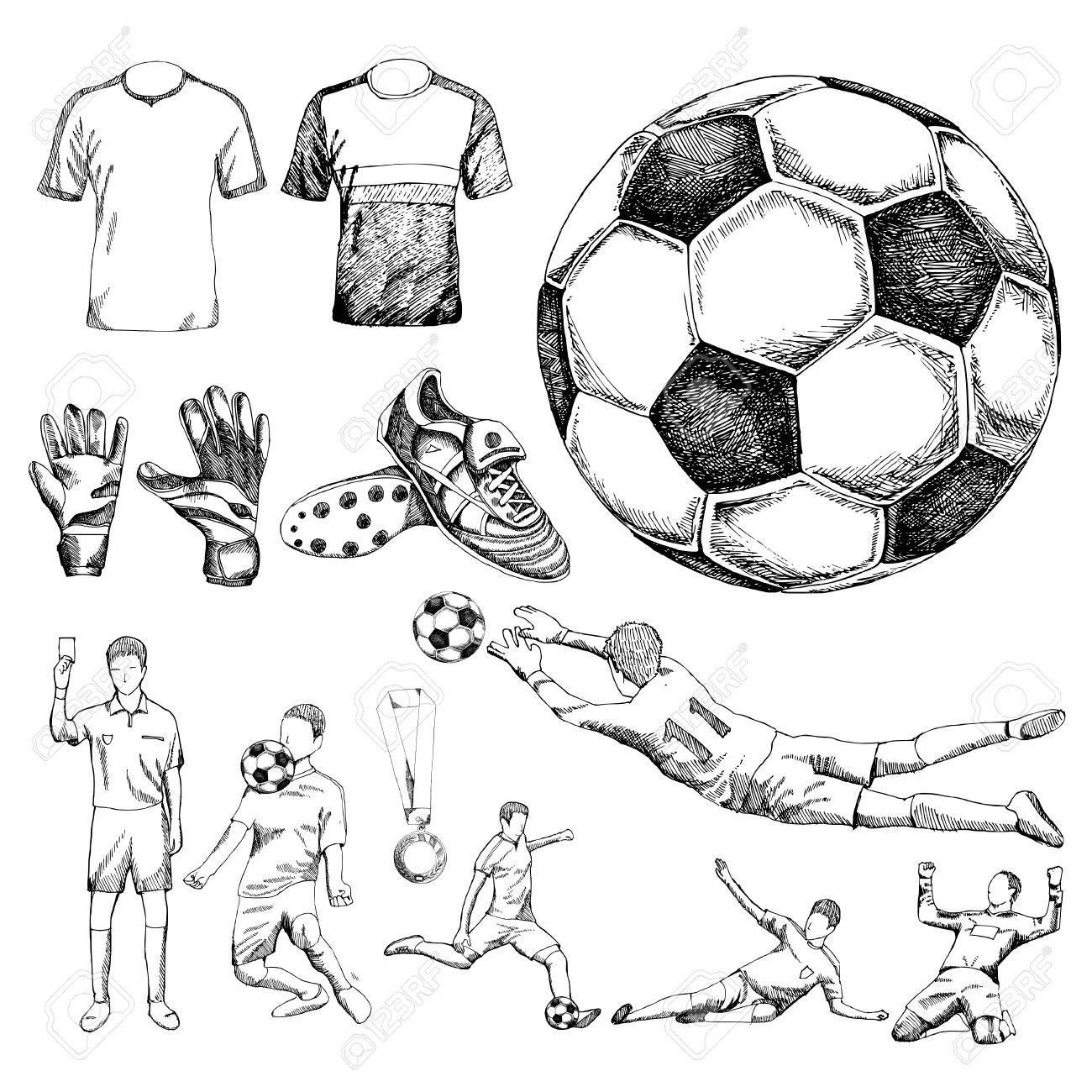 Design elements of soccer - 58184558