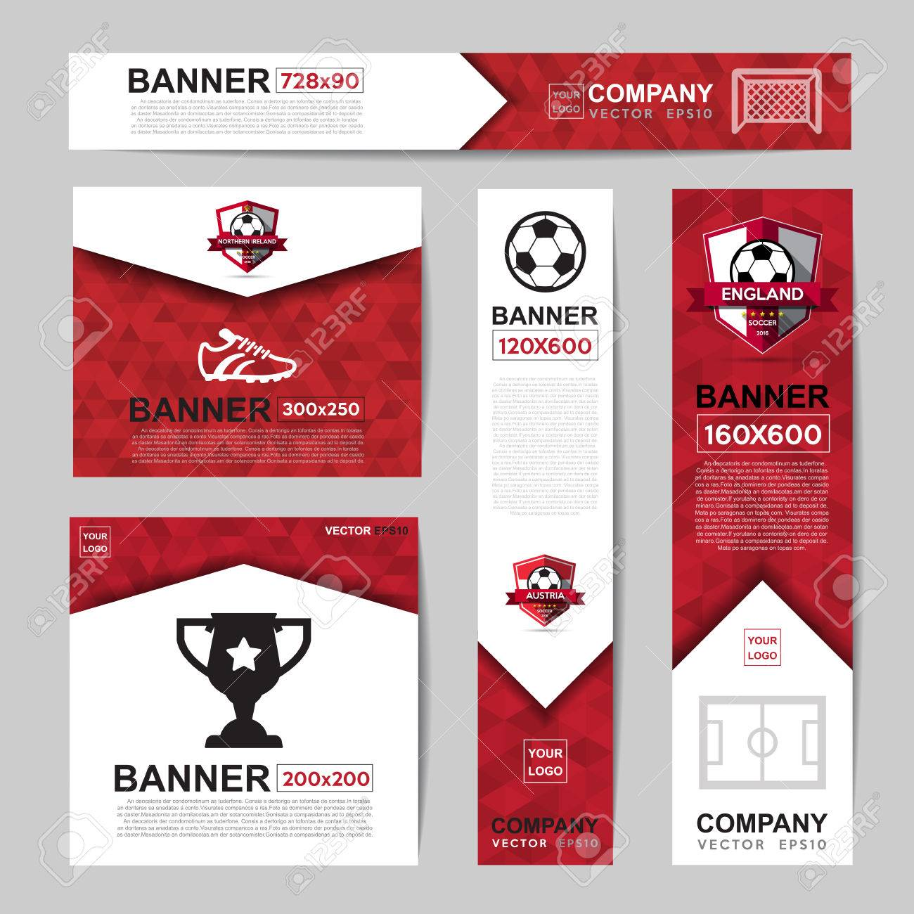 Abstract flag colour banner for Website Ads - 58185402