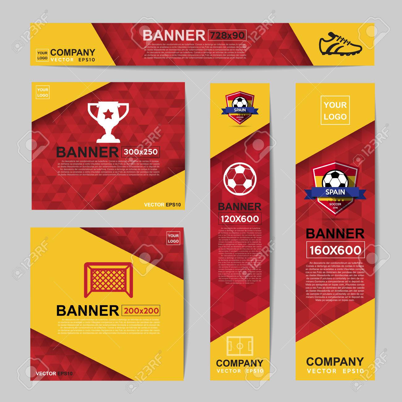 Abstract flag colour banner for Website Ads.Ratio,728x90,300x250,200x200,120x600,160x600 - 58192024