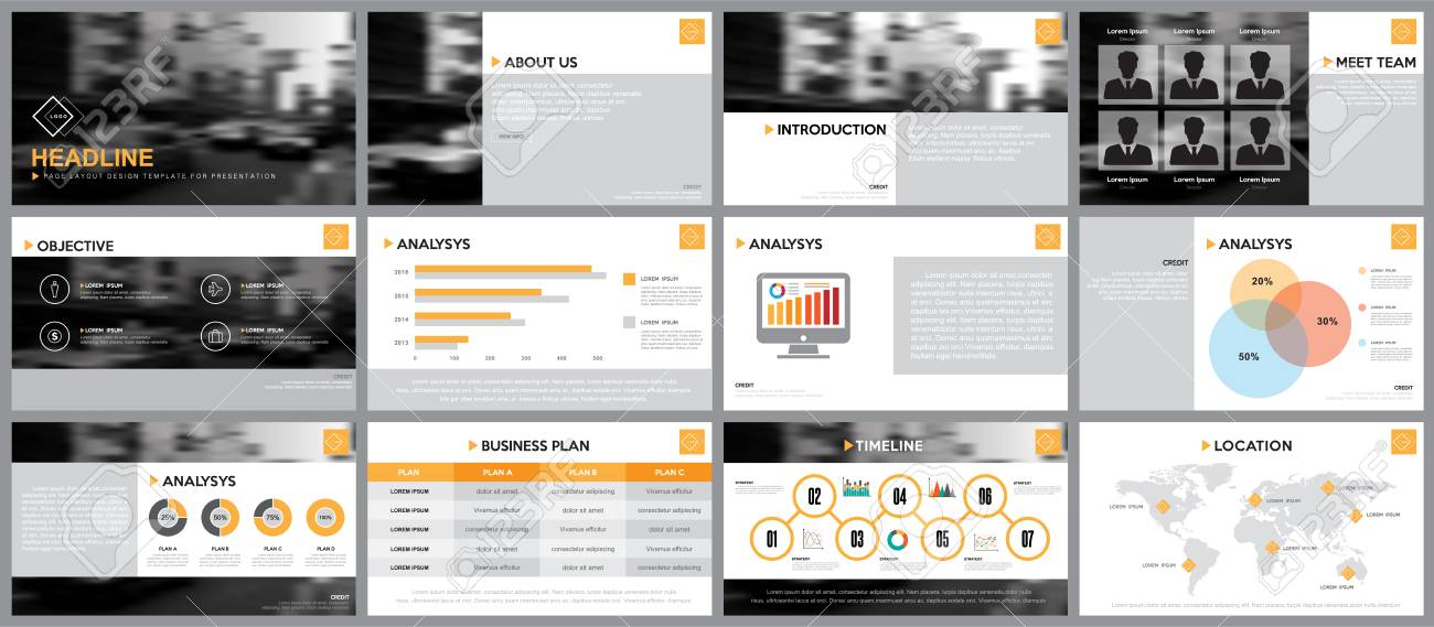 Design Element Of Infographics For Presentations Templates Annual