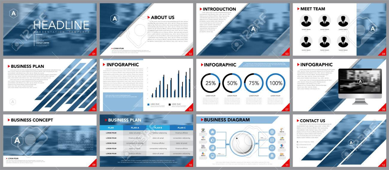 Elemento De Diseño De La Infografía Para Plantillas De Presentación ...