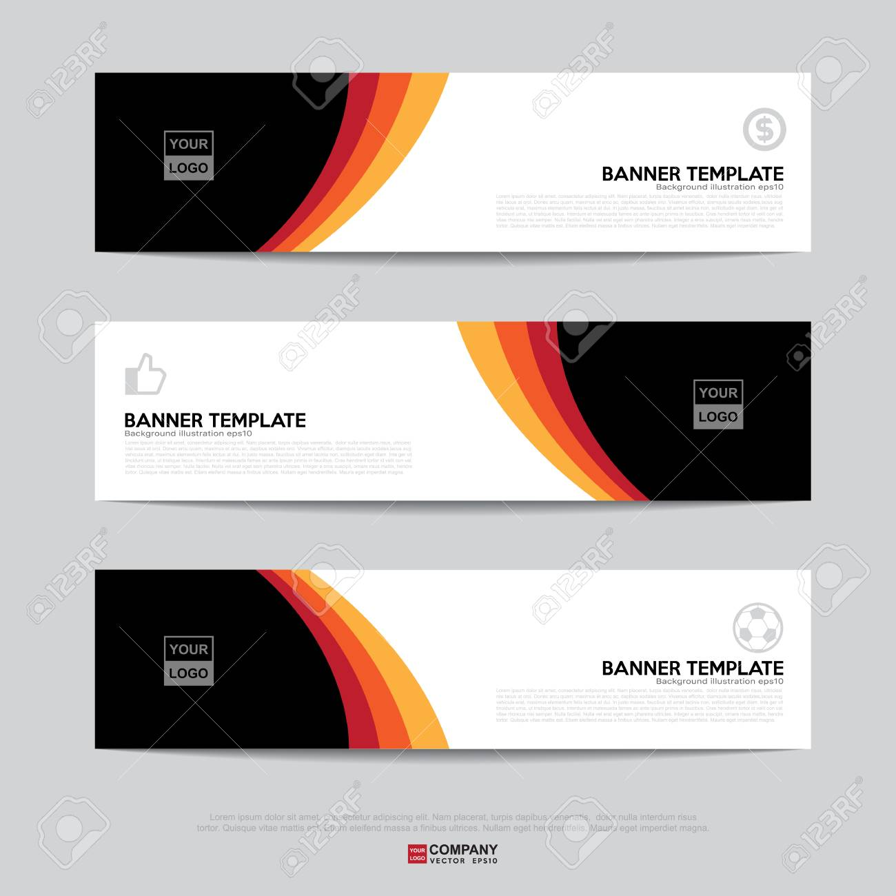 Design Of Flyers, Banners, Brochures And Cards Template,Banner ...