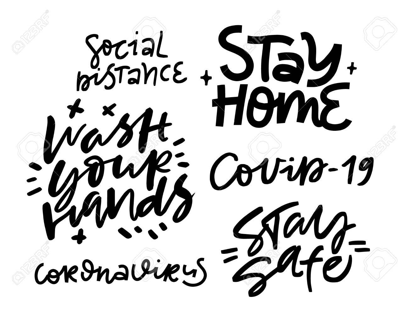 Lettering art. Coronavirus concept - 150450174