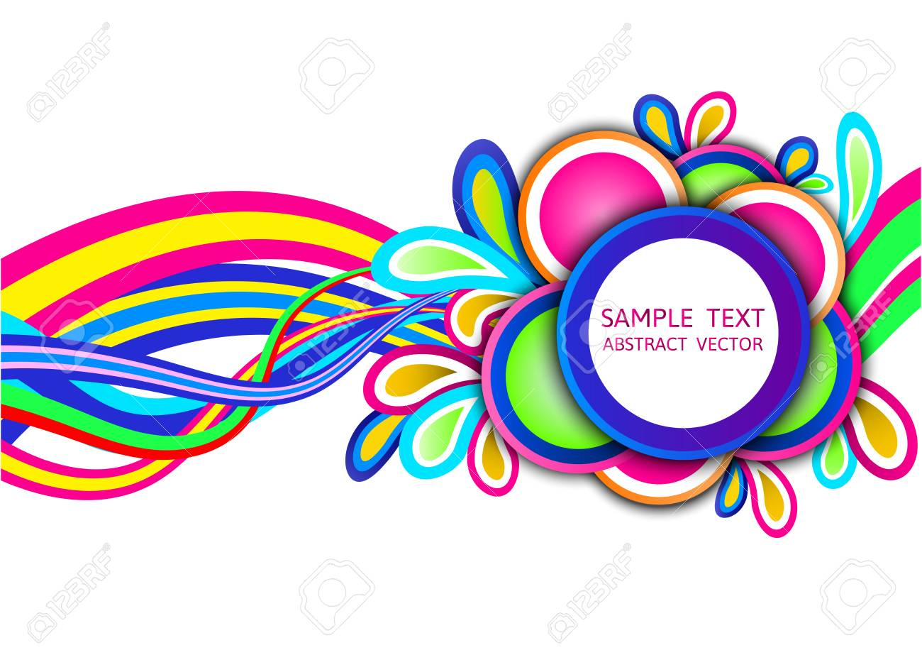 Colorful Abstract Wave Vector Background