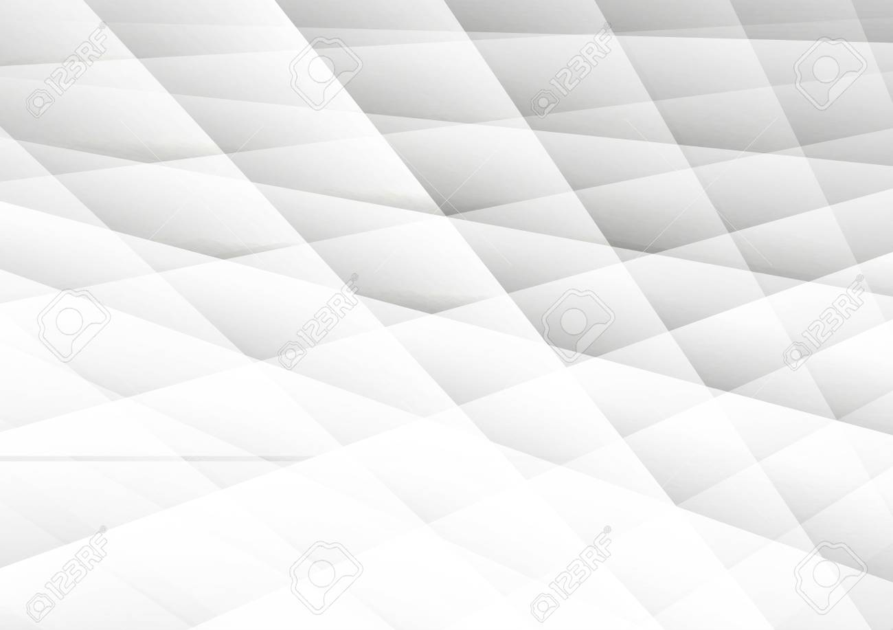 Gray And White Color Abstract Geometric Background Modern Design
