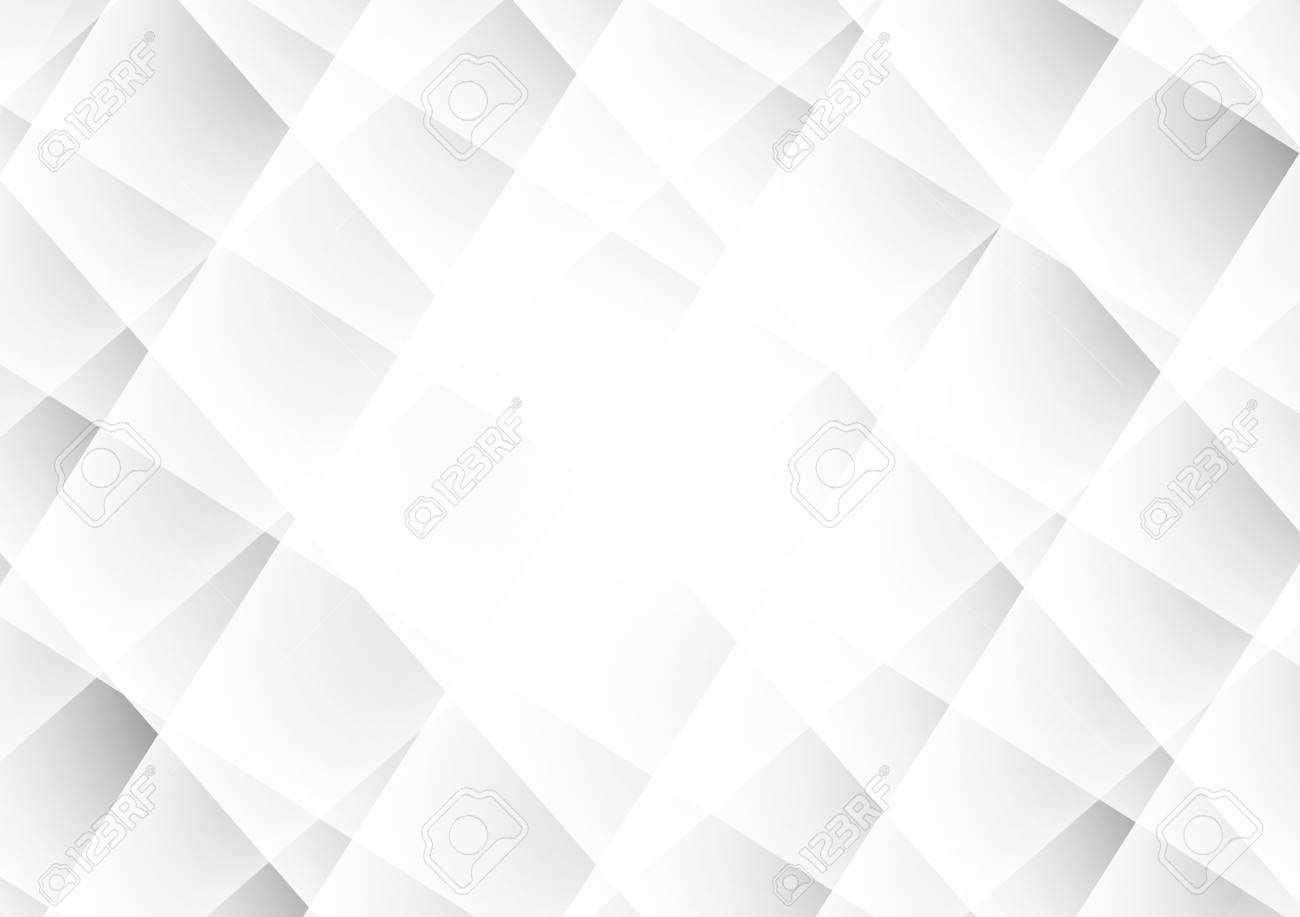 Abstract Geometric Background Modern Design Gray And White Color