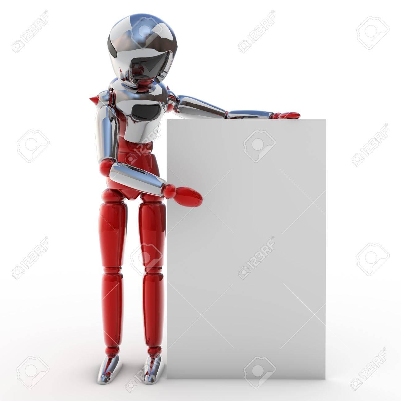 Robot poster Stock Photo - 12470015