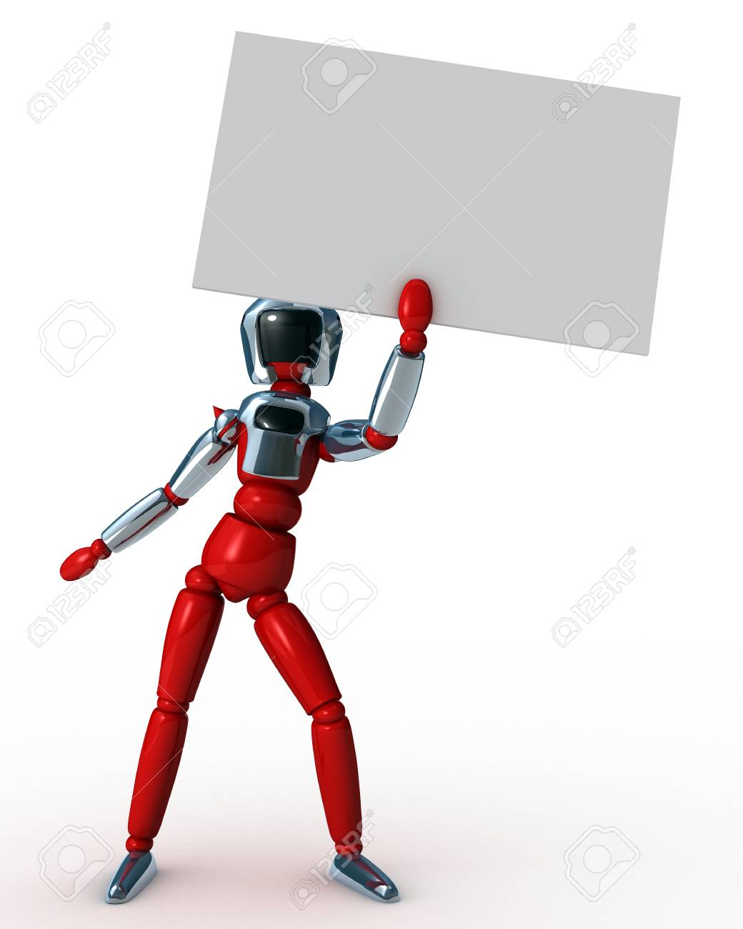 robot Card Stock Photo - 12469989