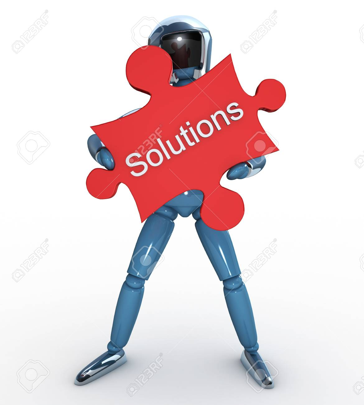 Robot Puzzle Solutions Stock Photo - 12470003