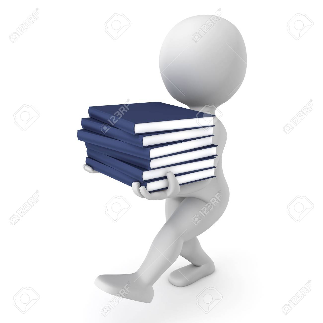 Character reading book Stock Photo - 13564163