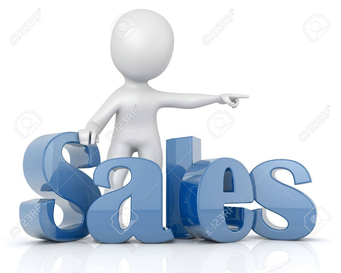 character 3D text Sales Stock Photo - 21956585
