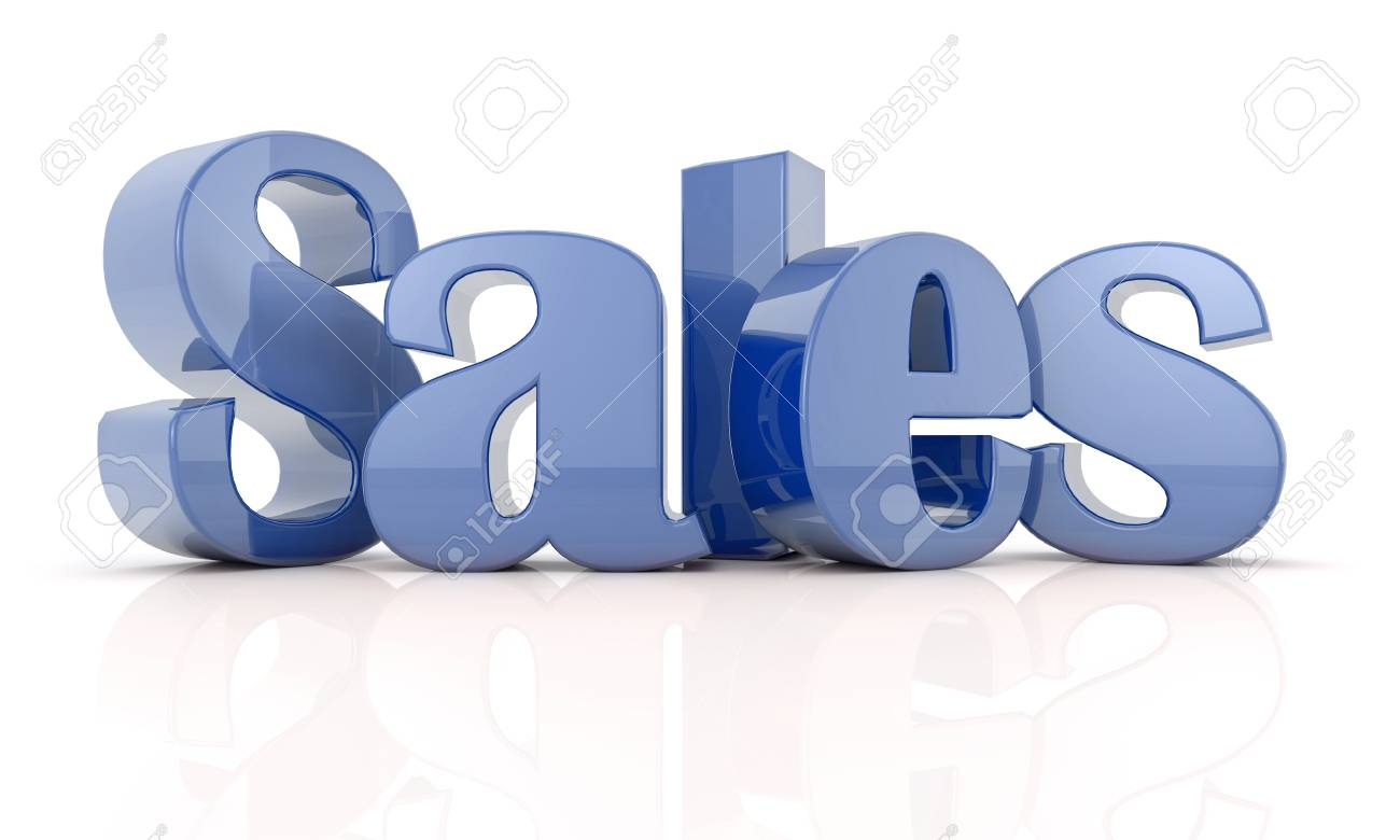 3d text sales Blue Stock Photo - 21956590