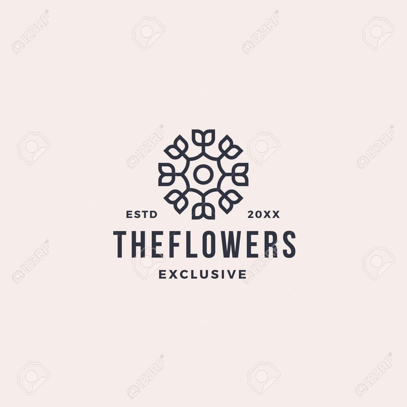 Luxury abstract line leaf flower logo - 167587819