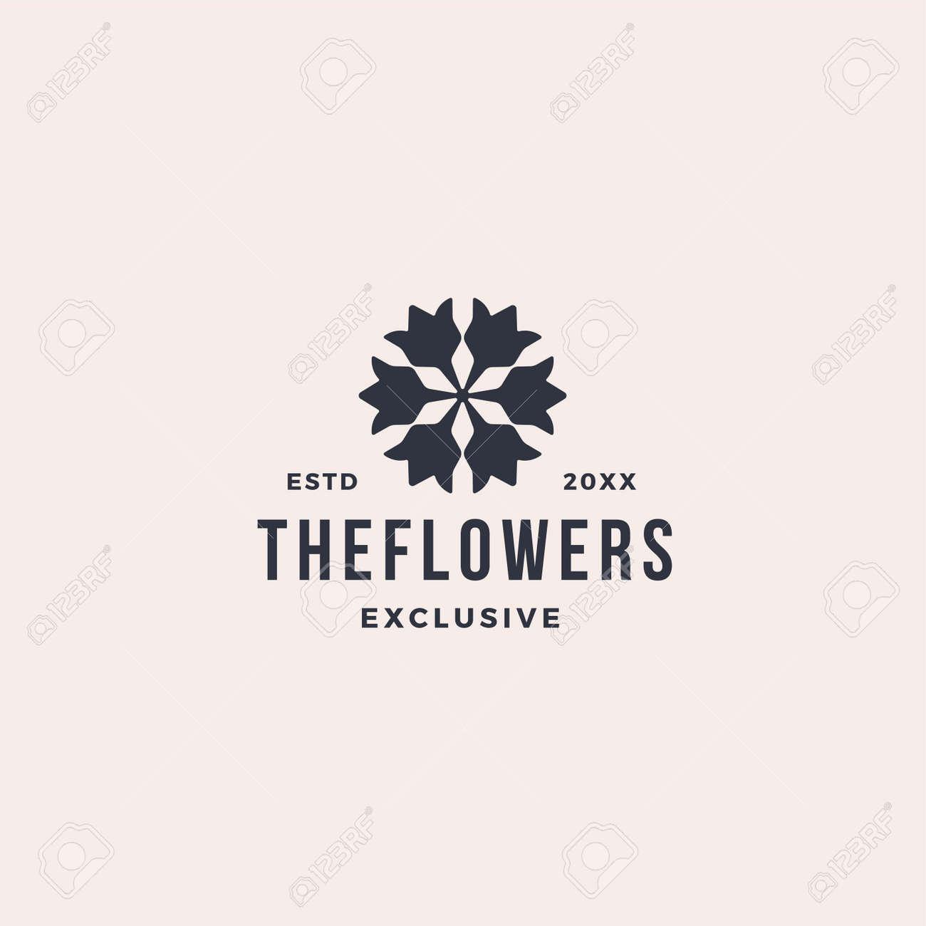 Elegant flower leaf ornament logo icon - 167587826
