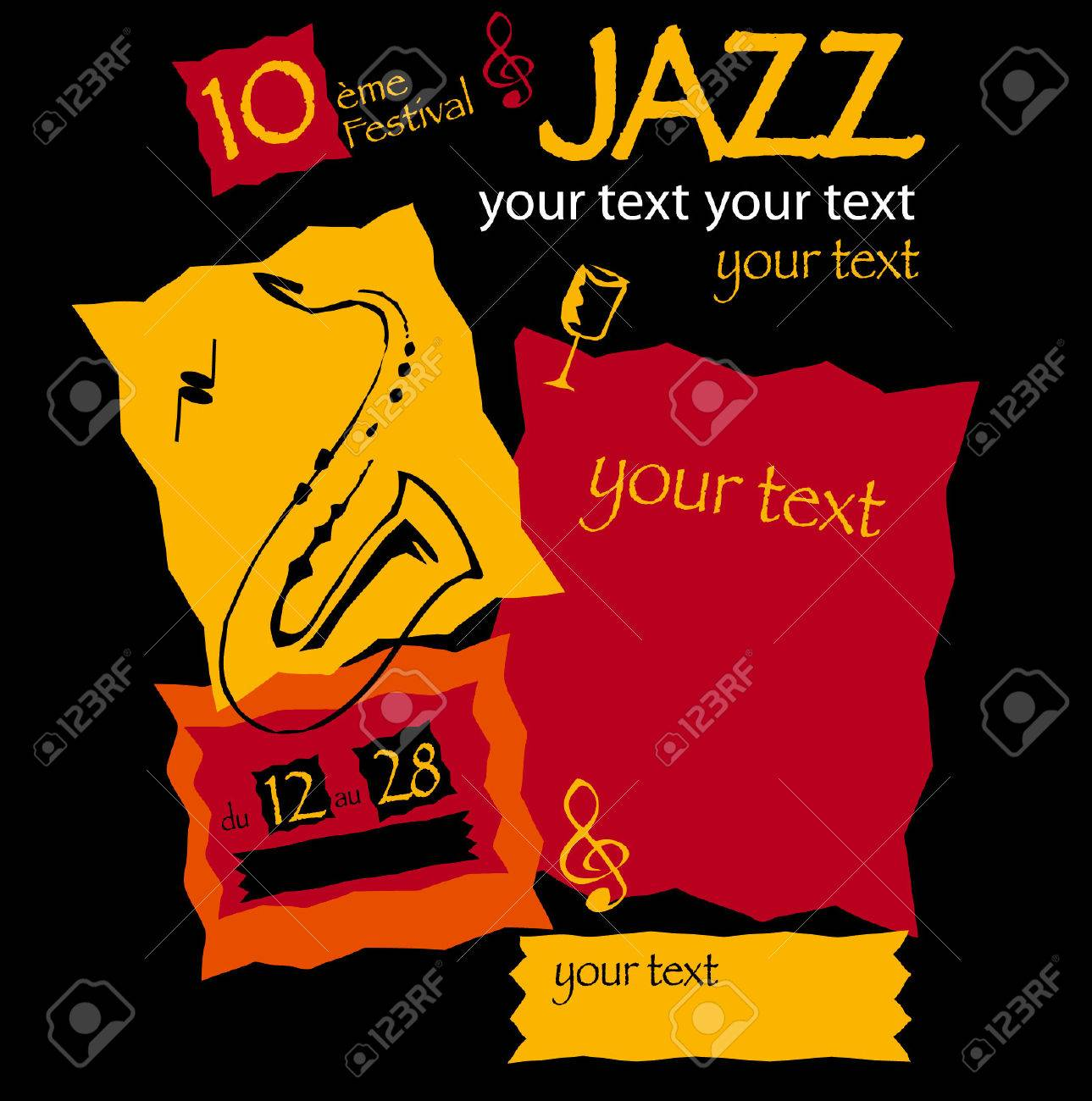 Poster of musical show of jazz Stock Vector - 7498198