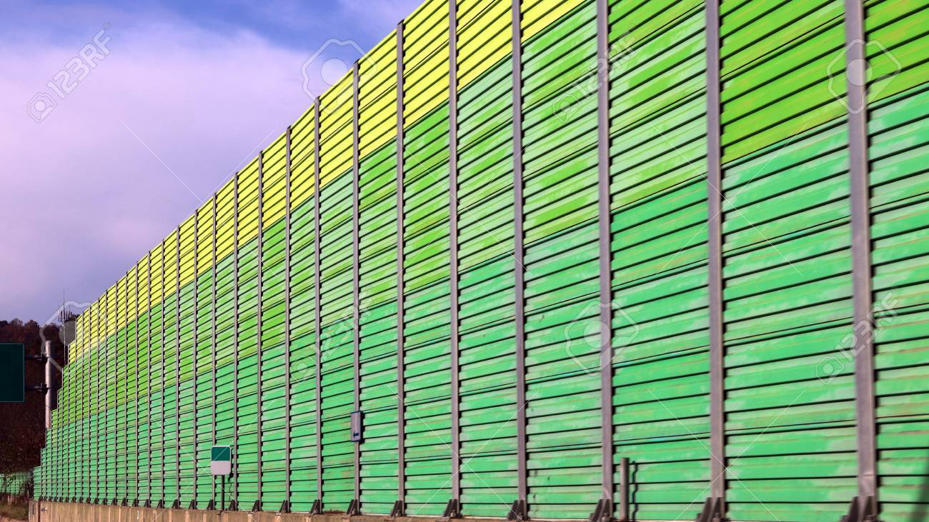 Yellowish green Highway Traffic Noise sound barrier